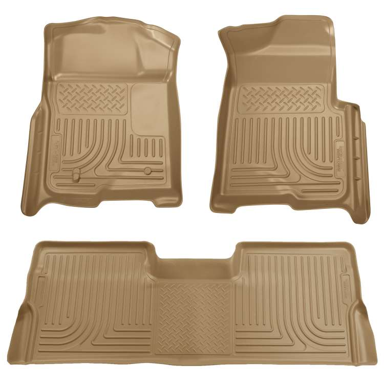08-10 Ford Superduty Ext. Cab Husky WeatherBeater Floor Liner Set