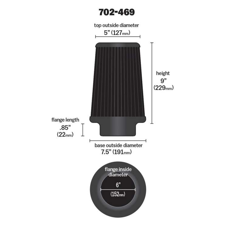 Airaid Replacement Filter 702-469