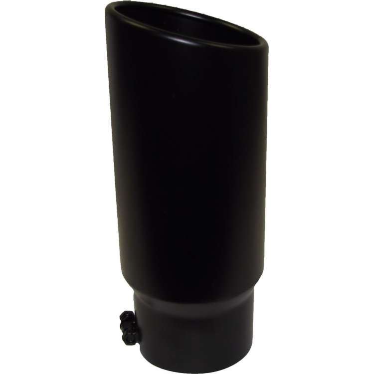 5 In Inlet, 6 In Outlet 15 In Black Powder Coated Bolt On Tip