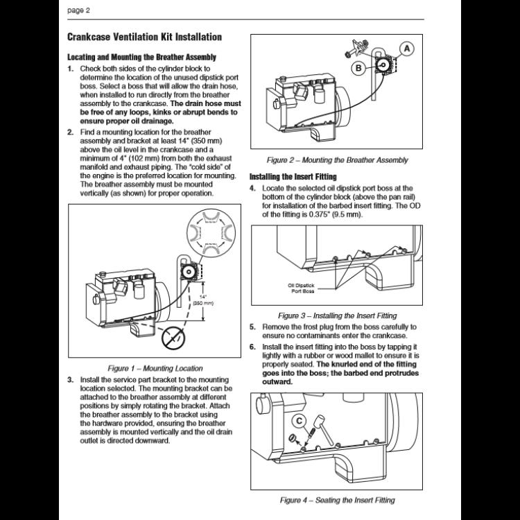 5.9L Cummins Complete Crankcase Ventilation Kit