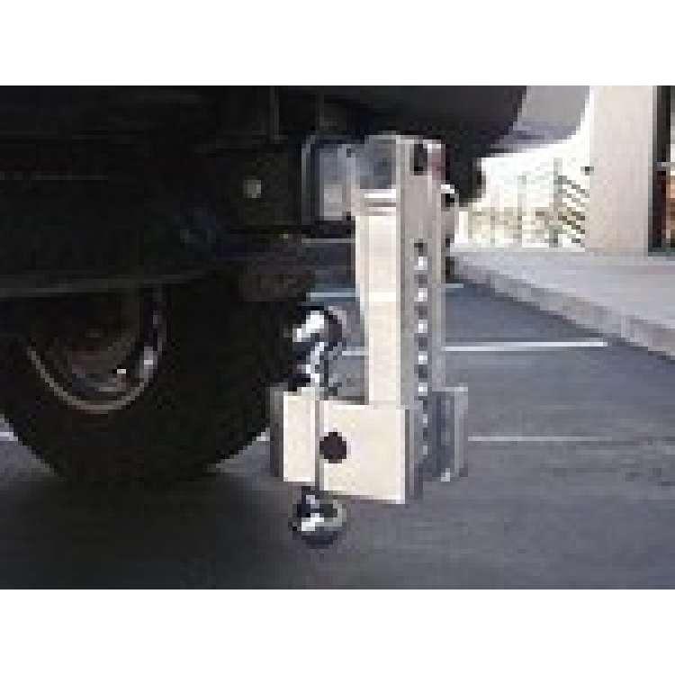 Fastway Billet Alum 0-10in. Drop Self Locking Adjustable Ball Mount