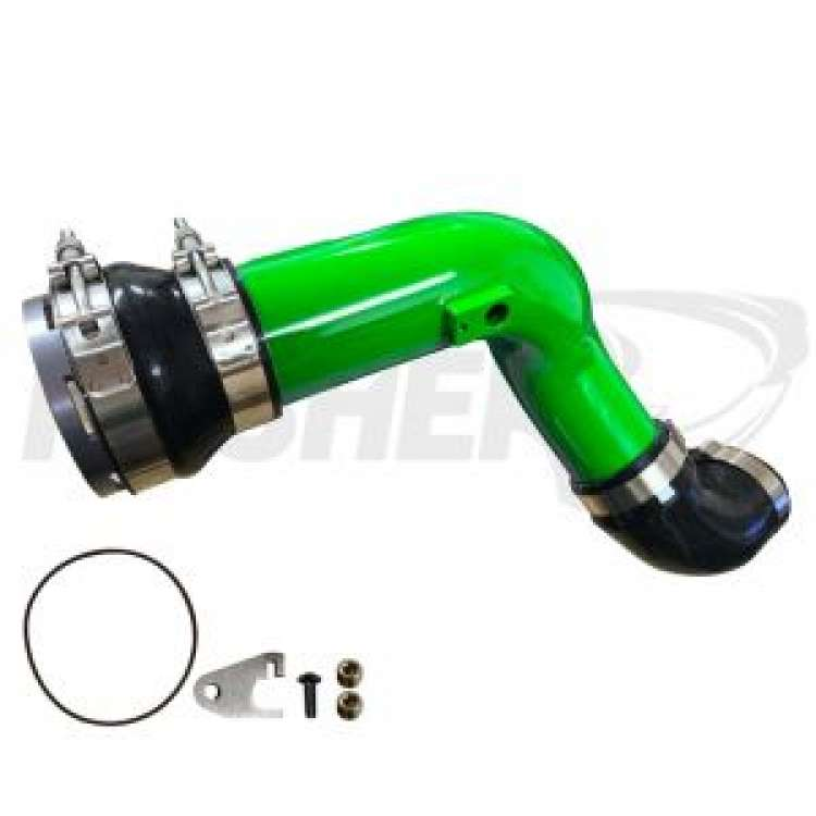 11-16 Ford 6.7L Powerstroke Pusher HD 3 In Cold side Charge Tube W/ Throttle Valve Adapter