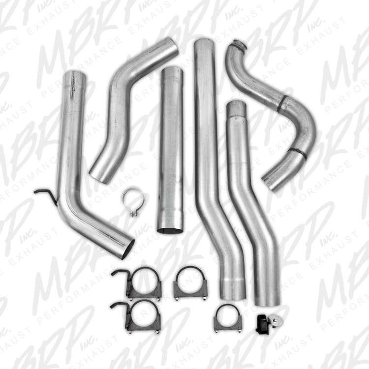 88-93 Dodge Cummins 4WD 4 In Aluminized Turbo Back Exhaust-No Muffler/Tip