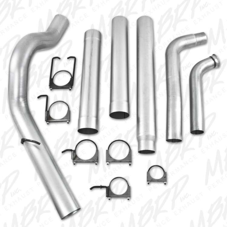03-07 Ford 6.0L Powerstroke MBRP 5 In Aluminized PLM Series Turbo Back Exhaust No Muffler