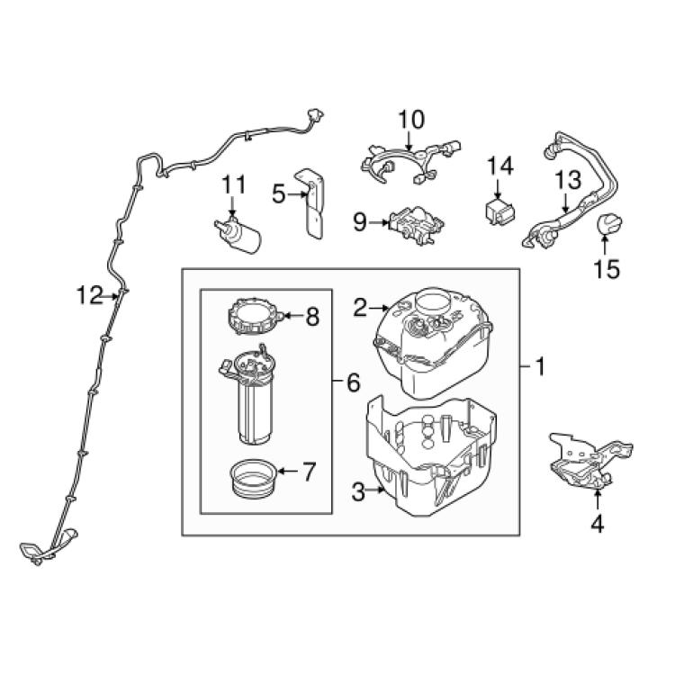 11-19 C&C Ford 6.7L Powerstroke Bosch OEM DEF Fluid Level Sensor