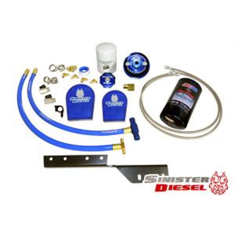 03-07 Ford 6.0L Powerstroke Sinister External Oil Filter System w/Coolant Filter