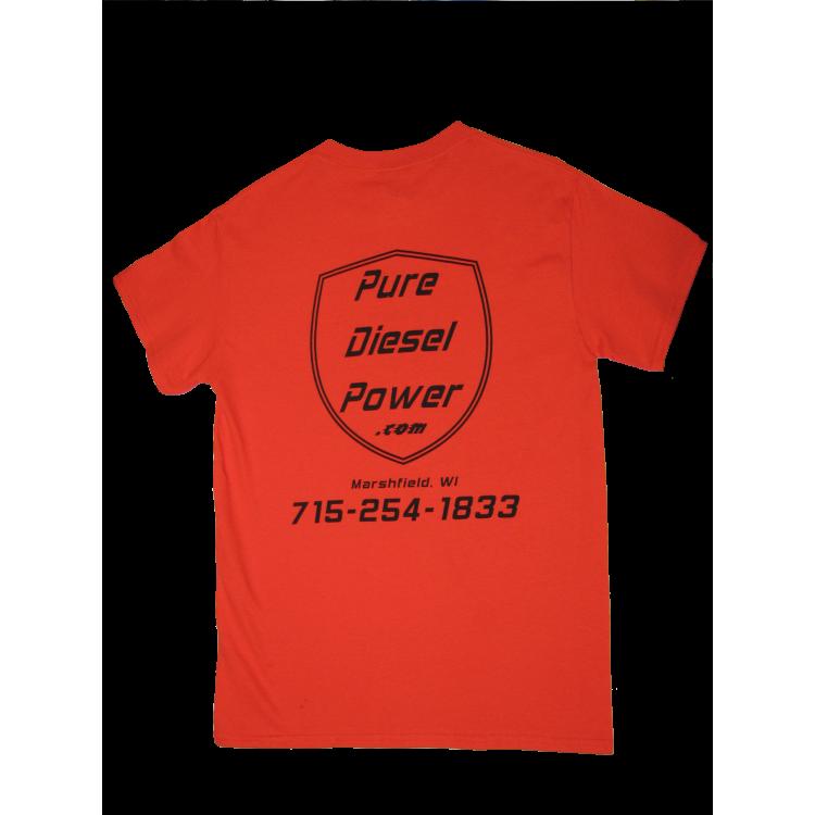 Safety Orange Pure Diesel Power T-Shirt