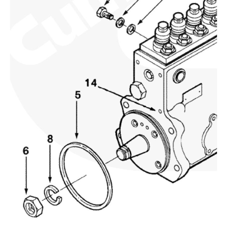 94-98 Dodge 5.9L Cummins P7100 Injector Pump Lock Washer
