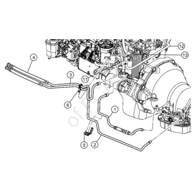 dodge ram 2500/3500 transmission oil cooler line 52028922al  pure diesel power