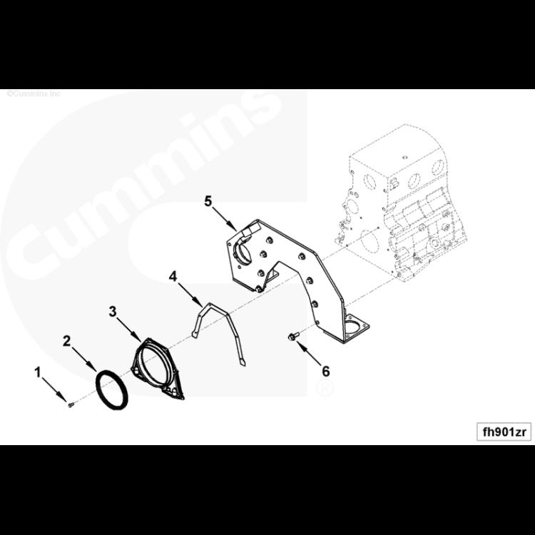 89-02 5.9L Cummins Rear Main Seal Housing Gasket