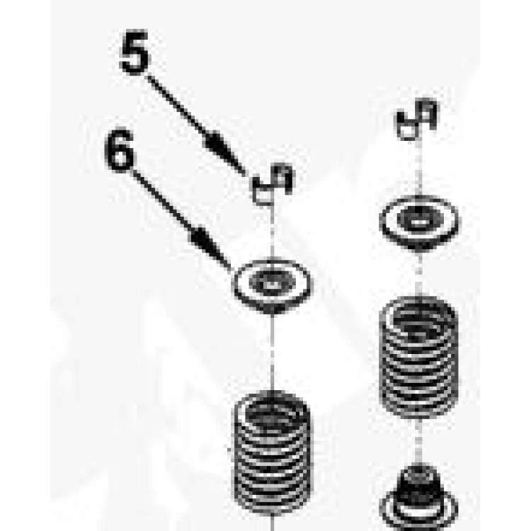 89-98 5.9L 12 Valve Cummins Stock Valve Spring Retainer & Keepers Set